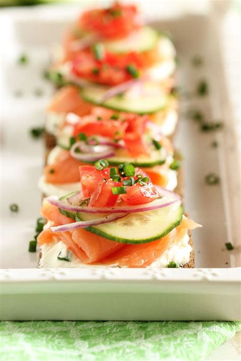 best canapes salmon canapes recipe dishmaps