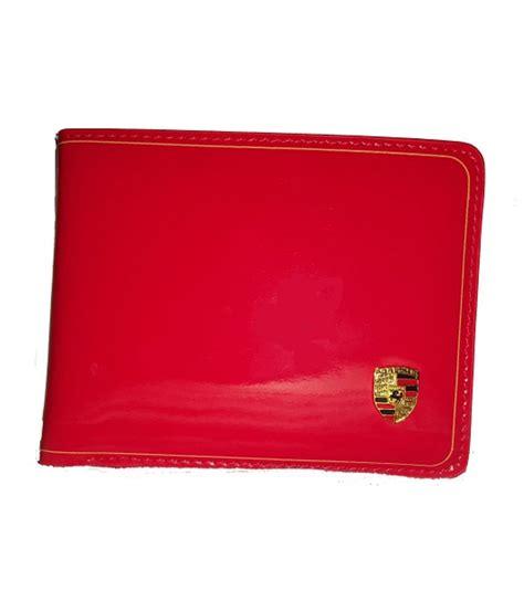 Porsche Portemonnaie by Porsche Red Leather Wallet Buy Online At Low Price In