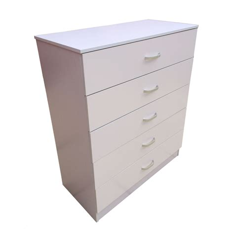 White Drawers by Chest Of Drawers 5 Drawer Bedroom Furniture Black Beech
