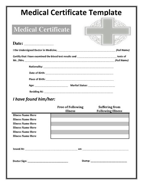 fake medical certificate template oklmindsproutco blank doctors