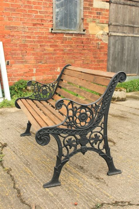 wrought iron bench wood slats 31 best images about garden on pinterest gardens
