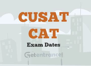 Cusat Mba Entrance 2017 by Cusat Cat 2018 Dates Application Form Admit Card