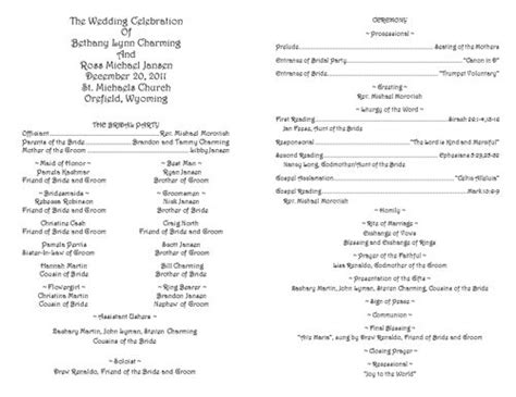 catholic ceremony program template the world s catalog of ideas
