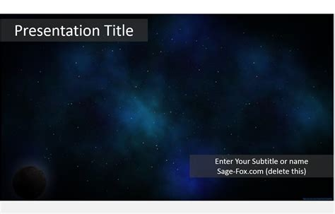 space themes for powerpoint 2007 free space powerpoint template 5559 sagefox powerpoint