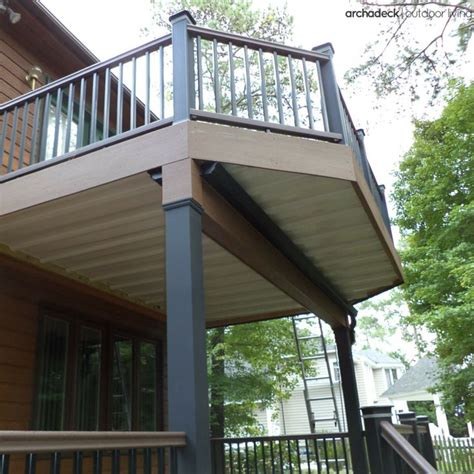 two story deck two story deck design ideas by archadeck st louis decks