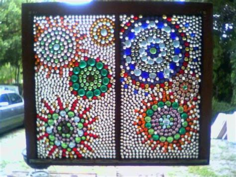 beading window frame gorgeous d i y glass pebbles glued to an window and