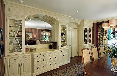 dining room built in cabinets country