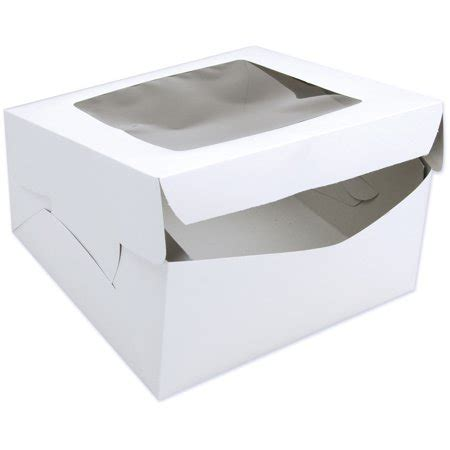 10 Inch Square Cake Box - wilton 12 x 12 window cake box walmart