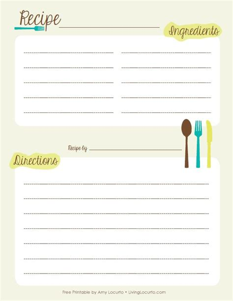 recipe template printable 17 best images about printables on recipe