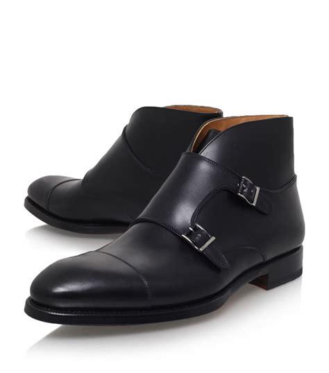 handmade monk chukka boot black