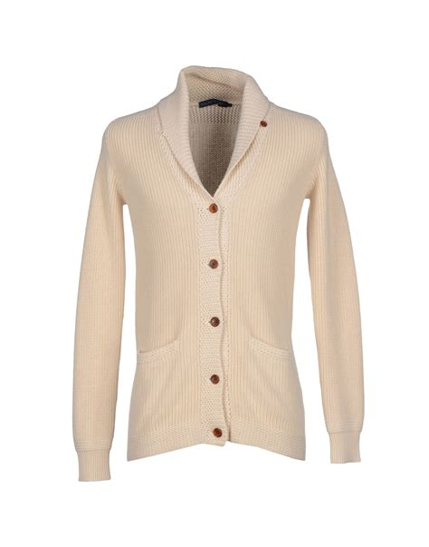 Cardigan Seventeen Ivory White lyst ralph cardigan in for