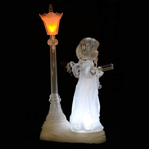 light up led acrylic carol choir singer angel ornament