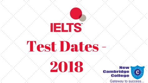 Mba Test Dates 2018 by New Cambridge College Best Ielts Gre Gmat Toefl