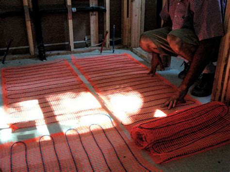 Heated Floor Installation by How To Install A Radiant Heat System Underneath Flooring
