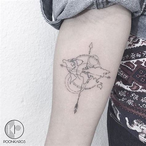 tattoo compass world 25 travel themed tattoos that ll give you instant