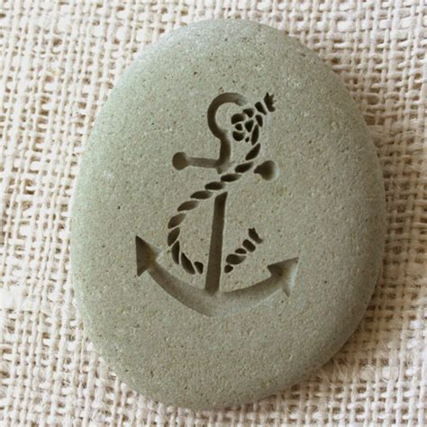 home decor stones anchor home decor paperweight engraved stone by sj