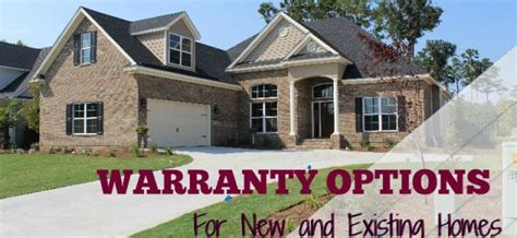 warranty options for new construction and existing homes