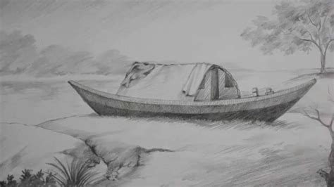 boat drawing ideas pencil shading tutorial how to draw a boat a riverside