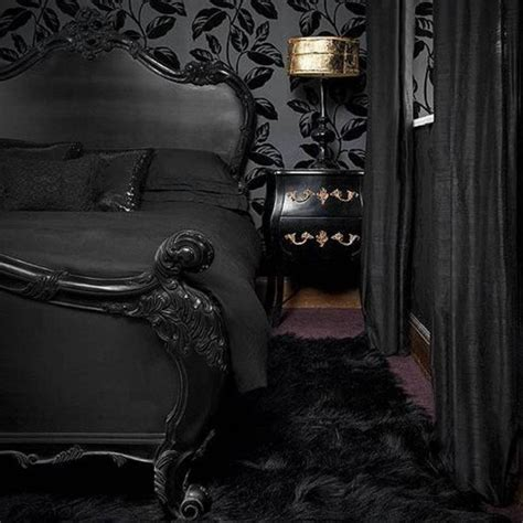 dark home decor 13 dark bedrooms with a subtle halloween vibe