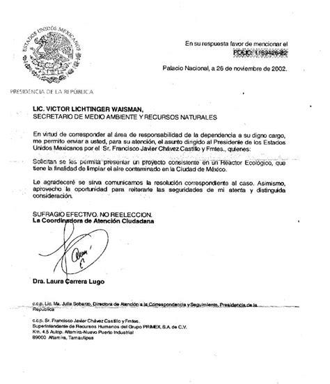 carta oficial mexico reactor ecologico altamira tamaulipas mexico