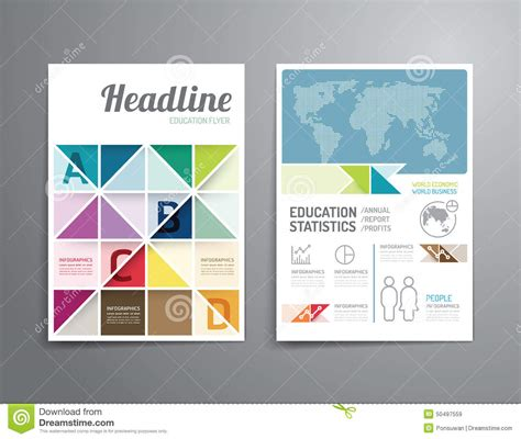 poster design report vector brochure flyer magazine cover booklet poster