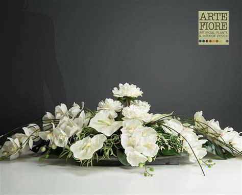 composizione di fiori artificiali composizione di fiori artificiali in tessuto peonie