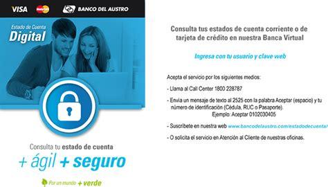 www banco del austro tarjetas call center banco del austro tarjeta de credito creditotela