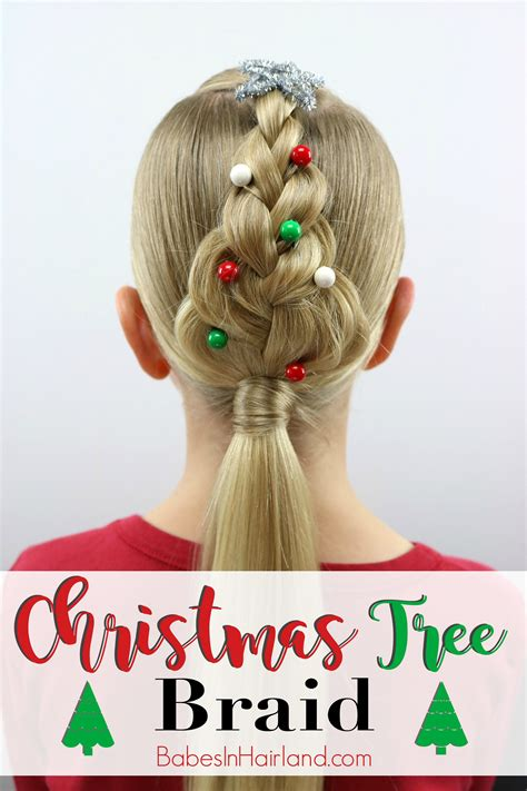 christmas tree hairstyle for girls tree braid in hairland