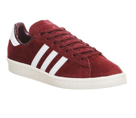 adidas cus 80s burgundy white vintage jp trainers shoes ebay