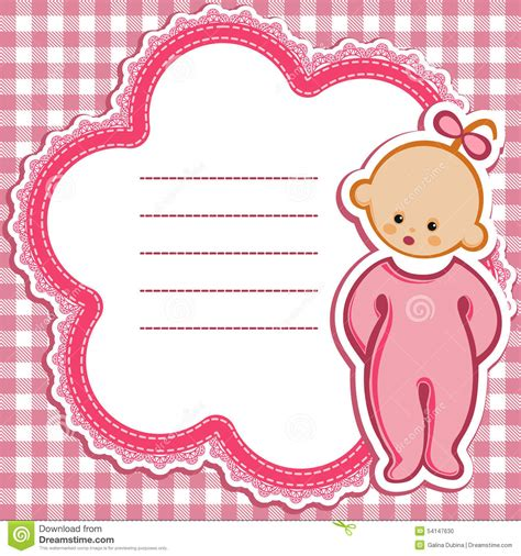 baby shower greeting card template card for baby stock vector illustration of