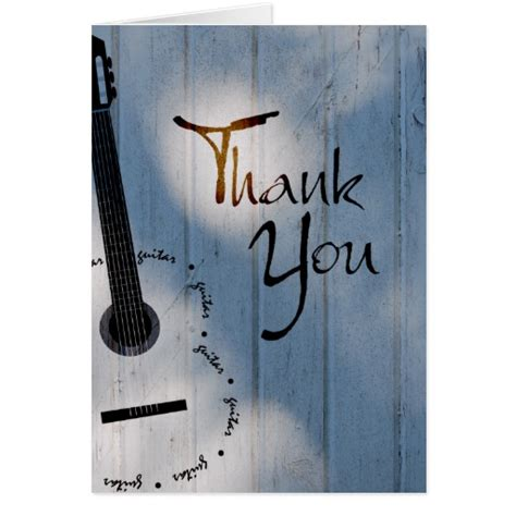 thank you letter guitar guitar thank you note card zazzle