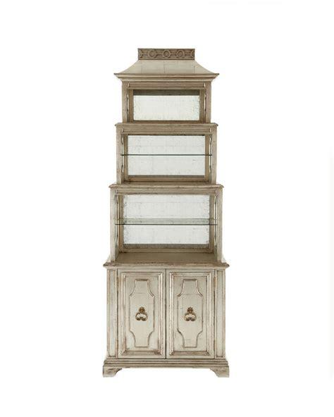 etagere 3 stöckig silber silver leaf pagoda etagere bookcase regency