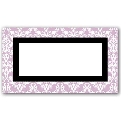 damask border place cards paperstyle