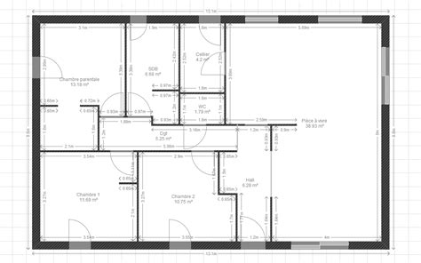 plan maison plain pied 3 chambres 100m2 maison plein pied 100m2 segu maison