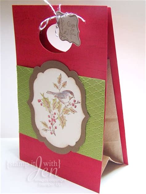Paper Lunch Bag Crafts - gift bag from paper lunch sack using stin up set