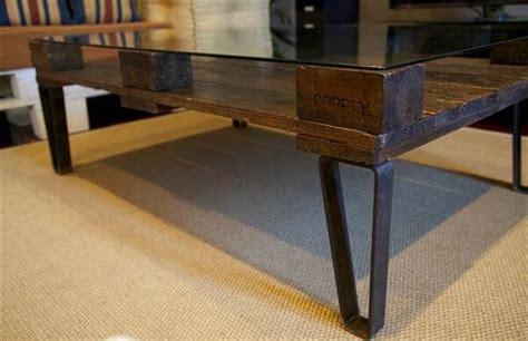 Diy Glass Top Coffee Table Diy Pallet Coffee Table With Glass Top Pallet Furniture Diy