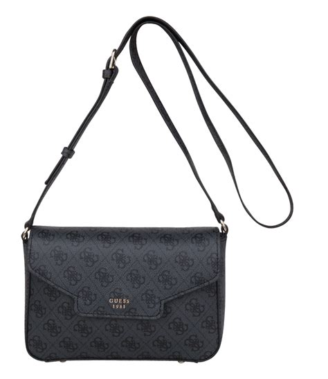 Guess Where This Is From 18 by Joleen Crossbody Flap Coal Guess The Green Bag