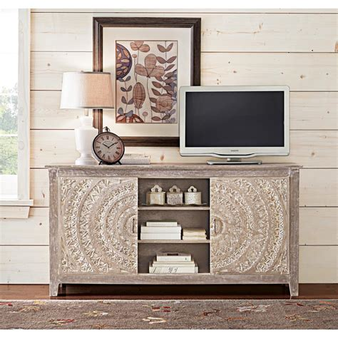 Home Decorators Collection Chennai Grey Wash Storage Entertainment Center 9510100910   The Home
