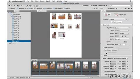 photoshop tutorial complete pdf creating pdf contact sheets