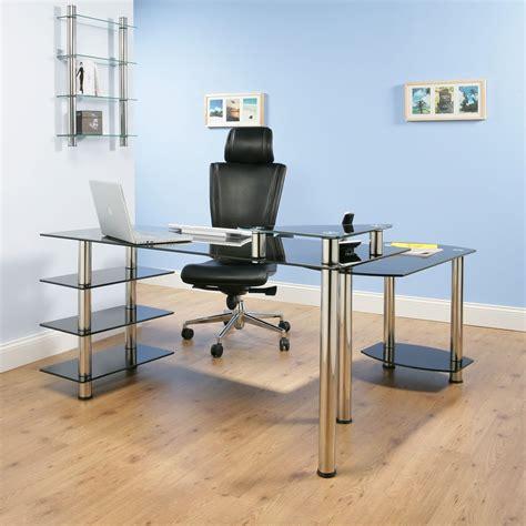 l shaped black glass desk desk l shape black glass office computer table lx3000b ebay