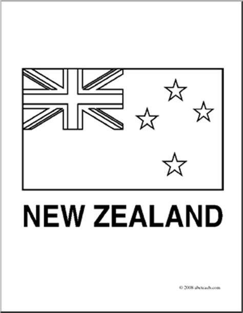 Clip Art Flags New Zealand Coloring Page Abcteach New Zealand Flag Coloring Page