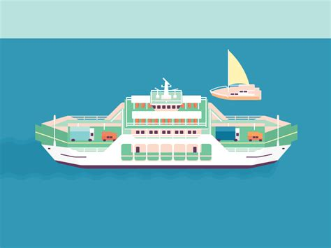 sinking fishing boat gif looping ferry by martin de rooij dribbble dribbble