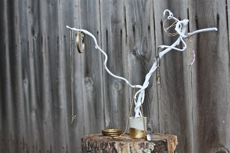 make your own jewelry tree make your own branch jewelry holder brit co