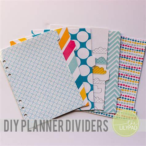 Diy Planner Dividers A5 Planner Divider Template