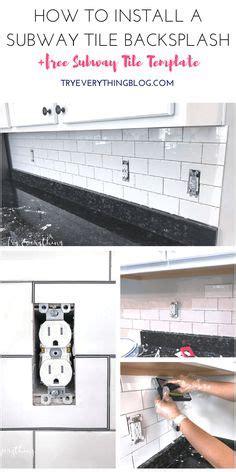 how to install subway tile diy ideas pinterest diy beveled subway backslash kitchen decor pinterest