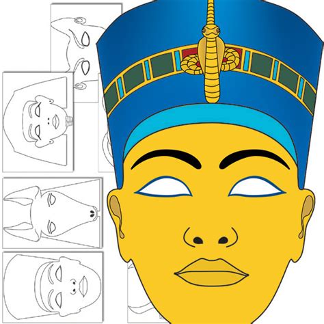 egyptian god masks templates ancient egypt pinterest