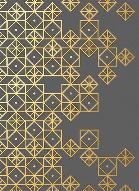 modern pattern works thane quot geometric gold quot by cat coquillette redbubble
