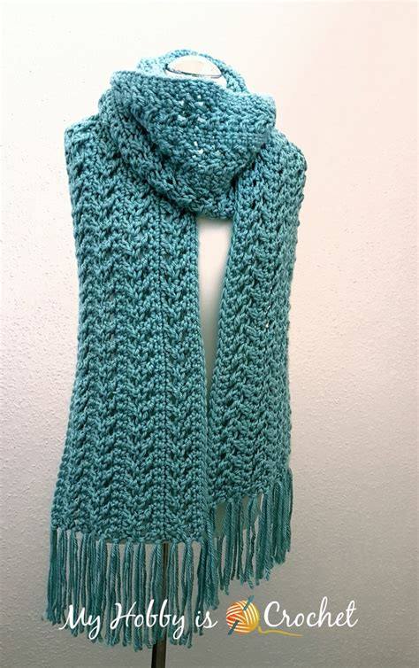 my hobby is crochet go with the flow scarf free