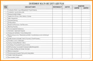 Environmental Health And Safety Plan Template 6 audit schedule template free plan