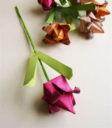 Origami Tulips Bouquet - origami tulips handmade paper totally unique origami